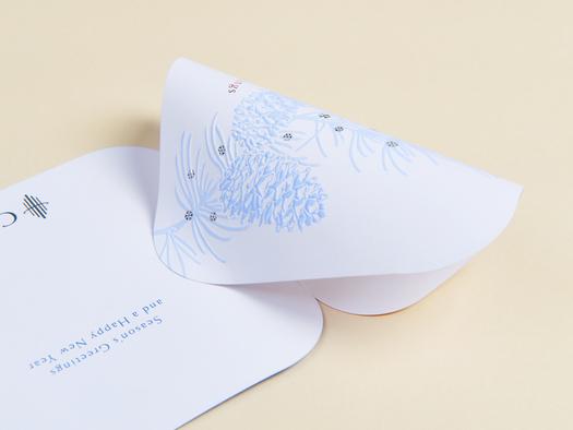 RJ Paper | Festive card – Grandeur Zen White
