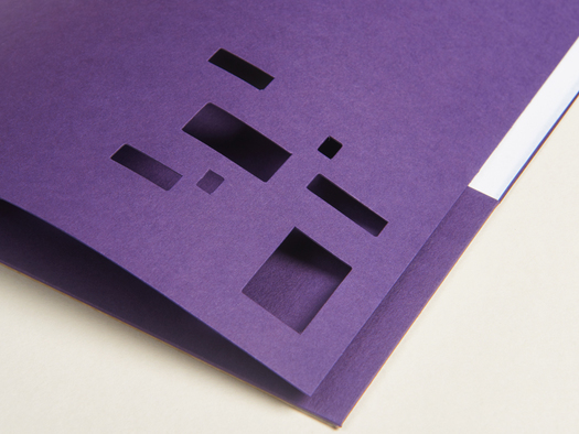 RJ Paper | Corporate folder – Colorplan Amethyst